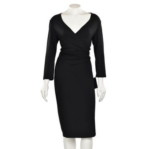 Lafayette 148 New York Black Wrap Dress